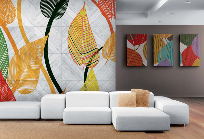 Monochrome Taupe-Color Interior with a Hint of Art-Deco ... |Wall Art Collection Interior Design